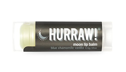Moon Hurraw! Lip Balm: Night Treatment, Organic, Certified Vegan, Certified Cruelty Free, GMO Free, Gluten Free, All Natural – Luxury Lip Balm Made in the USA – MOON