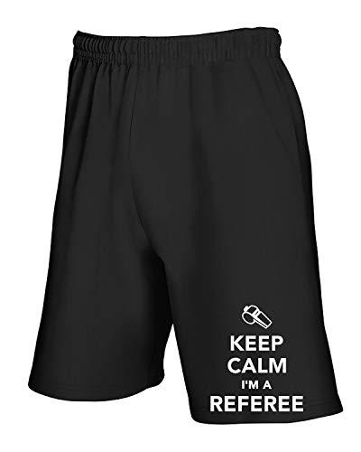 Referee Keep Calm Nero A Tuta Im Dec0187 shirtshock Pantaloncini T Aq1zX