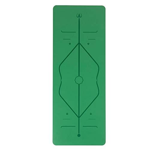 YOOMAT Erfüllen Sie umweltfreundliche Standards ohne gleitende Yogamatte mit originalem und einzigartigem Ausrichtungsmarkierungssystem aus Naturkautschuk PU 5mm