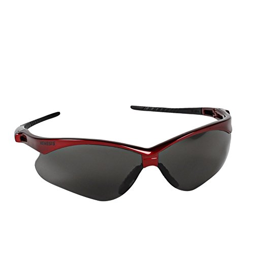Jackson Safety 22611 V30 Nemesis Safety Glasses, Smoke Lenses with Inferno/Red Frame (Pack of - Inferno Sunglasses