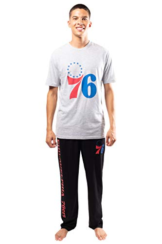 Ultra Game Men's NBA 2 Piece Super Soft Tee Shirt & Lounge Pants Set