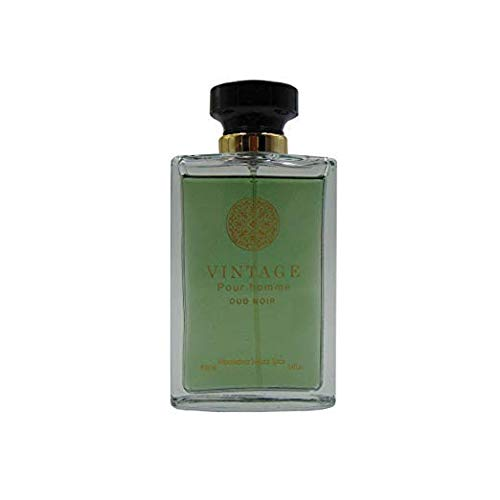 - VILLAGE PEAR HOMMIE OUD NOIR, Our Version of VERSACE OUD NOIR, Eau de Toilette Spray for Men, Perfect Gift, Charismatic, Night time and Causual Use, for all Skin Types, 3.4 Fl Oz