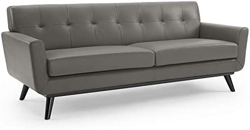 Deal of the week: Modway Engage Top-Grain Leather Living Room Lounge Sofa