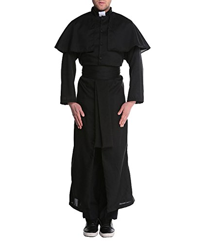 Avide Friar Priest Robe Costume Adult Religious Father Halloween Fancy Dress - Medieval Nun Costumes