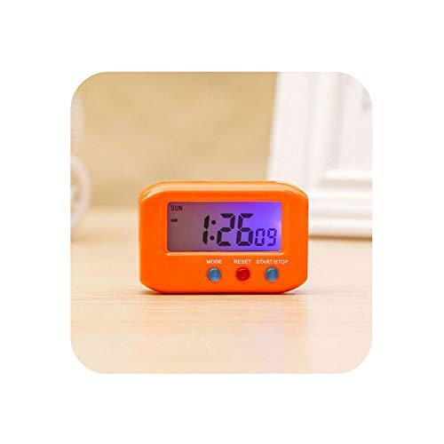 Meet- fashion Portable Pocket Sized Digital Electronic Travel Alarm Clock Automotive Electronic Stopwatch,yw
