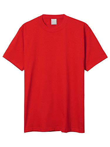 - Hat and Beyond Mens Super Max Heavyweight Cotton T Shirt Solid Short Sleeve Tee S-5XL (1ks06_Red/4X-Large)