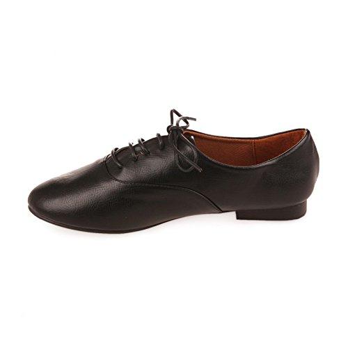 Mujer De Cordones Modeuse La Negro Zapatos OwqfnT