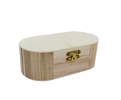 Curved Edge Wooden Trinket Box Memory Treasure Jewellery Storage Paint Art Craft By Accessories Attic®