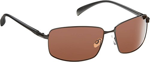Fisherman Eyewear Harbor Polarized Sunglasses, Matte Black Metal Frame (Copper Lens) Large/XL (Harbor Glass)
