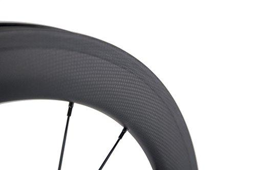 Superteam Carbon Fiber Clincher Road Bike Wheelset 700C25 Matt Finish 1 Pair by Queen Bike (Image #5)