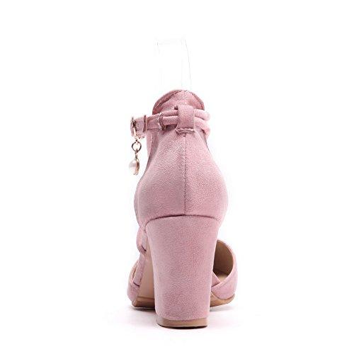 BalaMasa Sandales Compensées Femme - Rose - Rose, 36.5 EU