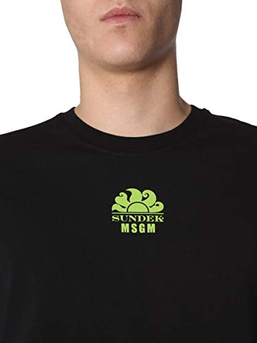 Msgm 2640mm200s19521999 Algodon Hombre shirt T Negro r5OrTw
