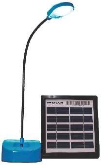 Tata Power Solar Diva 5L  LED Table Lamp (20 Cm Height, Blue Colour
