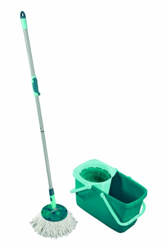 Leifheit Clean Twist Spin Mop System with Bucket and Round Mop - Round Twist