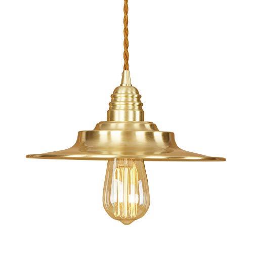 Ganeep Loft Industrial Pure Copper Vintage Luces Colgantes 1.5M Alambre Colgante E27 Bombilla Edison Retro Luces Colgantes...