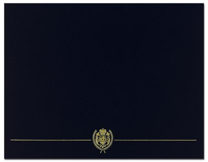 (Black Classic Crest Certificate Cover - 25 Covers)