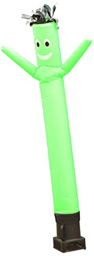 LookOurWay Air Dancers Inflatable Tube Man Complete Set with 1/4 HP Sky Dancer Blower, 6-Feet, Green]()