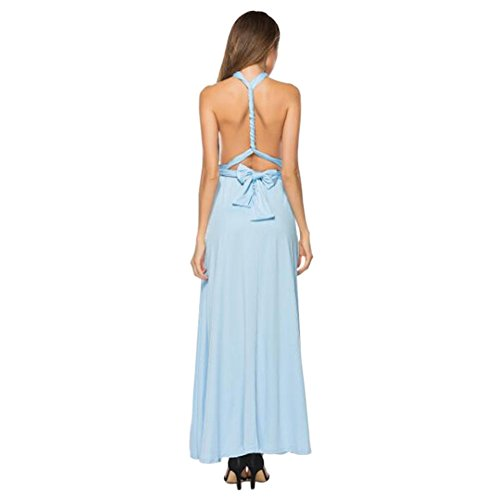 Multiway Cielo D'onore Lunghi Donna Dress Maxi Senza Convertible Estate Gyratedream Party Maniche Abito Damigella Avvolgere Vestiti Eleganti Sera Blu Cocktail EYUnqRga