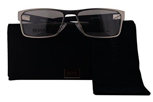 Hugo Boss Authentic Eyeglasses 0601 Ruthenium Blue w/Clear Demo Lens 5UR (56mm)