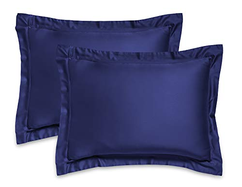 Cobalt Blue Bamboo - Pure Bamboo - King Pillow Shams Set of 2-100% Organic Bamboo - Ultra Soft with Durable Double Stitching (King, Cobalt Blue)