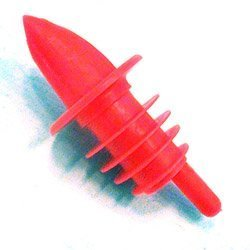Spill-Stop Manufacturing Company Medium Red Plastic Pourer (04-0185) Category: Pumps and Pourers