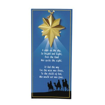 (Guiding Star Ornaments On Wise Men Story Cards -)
