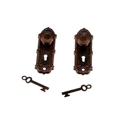 Dollhouse Miniature Bronze Finish Opryland Door Handle or Door Knob: Toys & Games