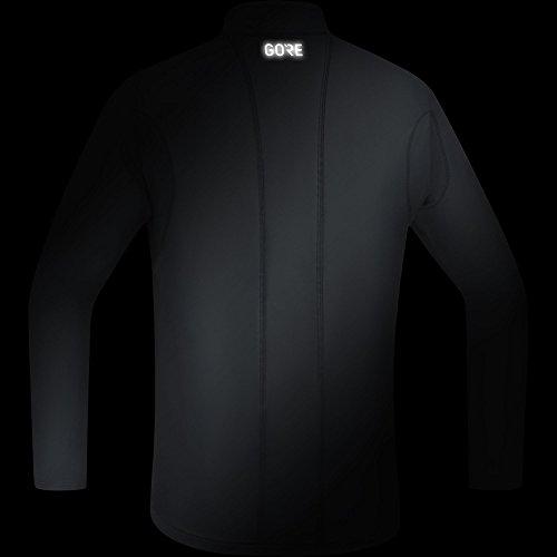 Gore Wear Herren R3 Zip Shirt Langarm, Black, XL