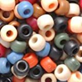 Christmas Multicolor Mix Plastic Craft Pony Beads, 6x9mm, 500 Beads