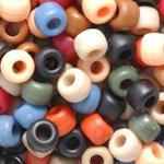Americana Matte Multicolor Mix Plastic Craft Pony Beads, 6 x 9mm, 500 Beads (Americana Bead)