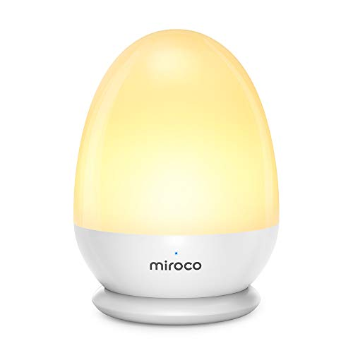 Miroco Night Lights for Kids, LED Baby Nightlight Breastfeeding Light 100% Toddler Safe, Touch Lamp USB Bedside Lamp Dim Nursery Lamp Diaper Changing Night Light, Soft Eye Caring, Timer Setting