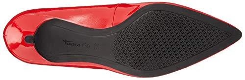 con Tamaris 21 22307 520 Scarpe Donna Chili Rosso Tacco Patent HgawU