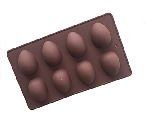 Forma de huevo de silicona molde, decoración de pasteles, Chocolate molde para partes: Amazon.es: Hogar