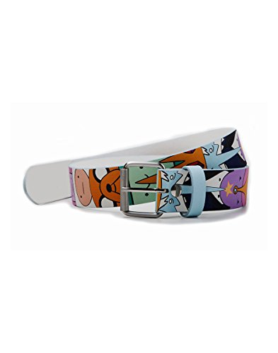 Multicolor Belt Characters Adventure Printed Pu Time qaz8aXxwY