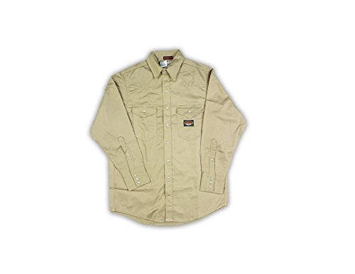 Rasco Flame Resistant Heavyweight Work Shirt 10.0 oz - Khaki (Medium-Long)