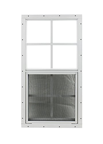 21 X 27 Shed Window Safety Glass Storage Shed Garages Playhouse Tree House (White Flush) by Shed Windows and More (Image #2)