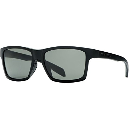 Native Eyewear Flatirons Polarized Sunglasses,Matte Black Frame, Gray Lens -