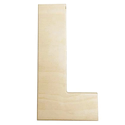 Darice U0993-L Bold Solid Wood Letter, Capital L, 12 in, L (12 Inch Wooden Letters)