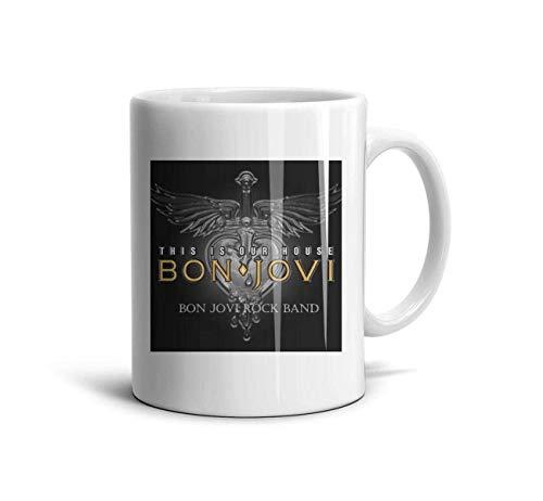 Bon-Jovi-Rock-Band-This-is-Our-House- Classic Coffee Mugs 11oz Ceramic Tea Cups,Bon Jovi Rock,One Size