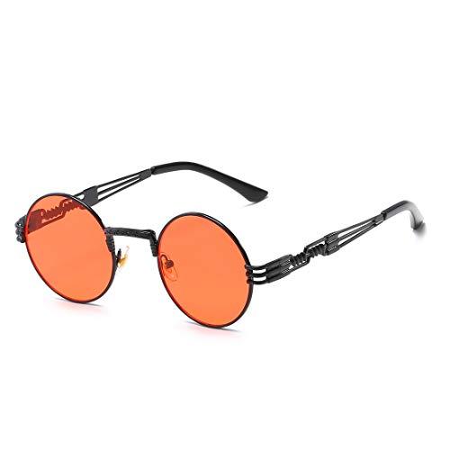 para Frame Gafas Pink Gafas Color Vintage Red De Pesca Lens De Mujer Sol Y Black Clásicos Gafas Gold Sol TLMY De De Sol Lens de Frame Hombre PpqwZwS