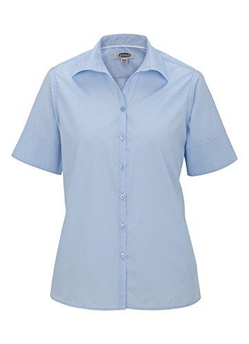 Ed Garments Women's Wrinkle Resistant Short Sleeve Poplin Shirt, BLUE, Medium ()