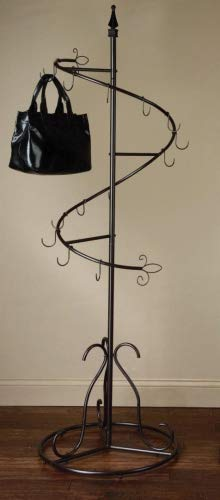 (Spiral Purse Tree Retail Rack Display - Pointed Top)