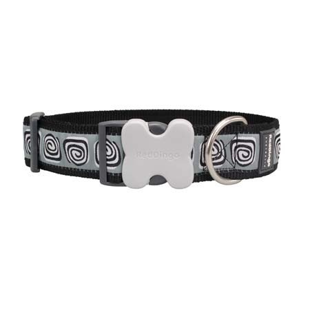 Red Dingo Hypno Dog Collar, Black, Giant Short