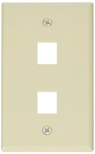 (Monoprice 106728 Wall Plate for Keystone 2 Hole, Ivory)