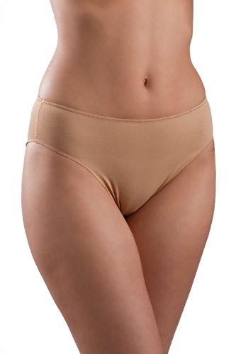 Lejaby Womens High Cut Microfibre Briefs Beige Size M