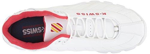 Zapato De Entrenamiento K-swiss Para Hombre St329 Cmf Blanco / Rojo / Amarillo Imperio
