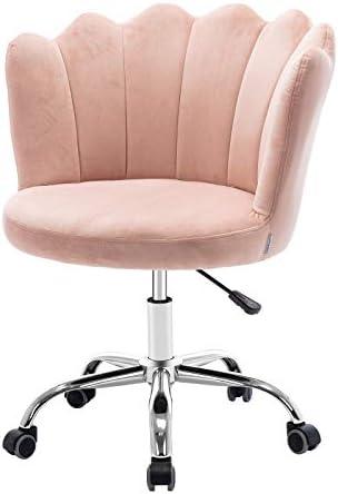 Velvet Desk Chair,SSLine Elegant Upholstered Desk Chair