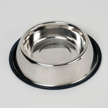 PET BOWL STAINLESS STEEL 32 OZ ANTI-SKID 208G, Case Pack of 48
