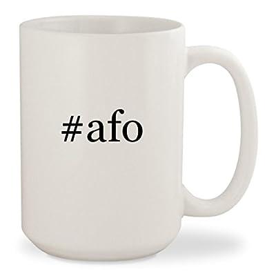 #afo - White Hashtag 15oz Ceramic Coffee Mug Cup