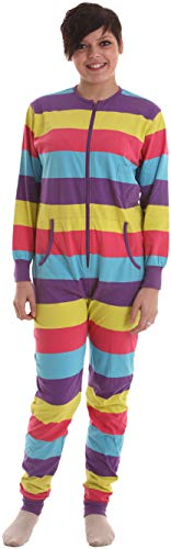 Funzee Unisex Adult Onesie Non Footed Pajamas Unhooded Jumpsuit XS-XXL (Size by Height) (Large)